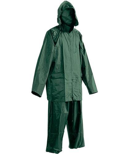 SOUPRAVA DO DEŠTĚ CARINA SOUPRAVA PRACOVNÍ PVC - DO DEŠTĚ CARINA zelená vel.L (kalhoty+bunda)