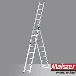 ŽEBŘÍK 3 DÍLNÝ s úpravou na schody 7807 ŽEBŘÍK 3x7 201/399cm s úpravou na schody